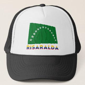 Risaralda Waving Flag with Name Trucker Hat