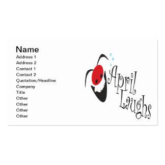 Risas de abril tarjetas de visita