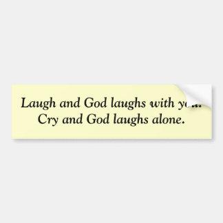 Risas de dios pegatina de parachoque