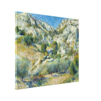 Riscos rocosos en L Estaque de Pierre-Auguste Reno