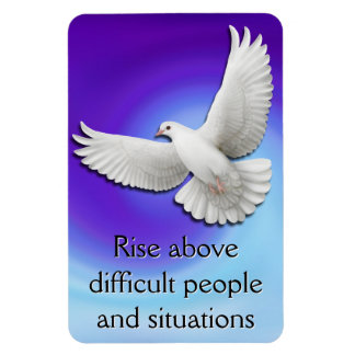 Rise Above Dove Survivor Affirmation Magnet