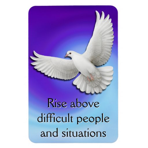 Rise Above Dove Survivor Affirmation Magnet
