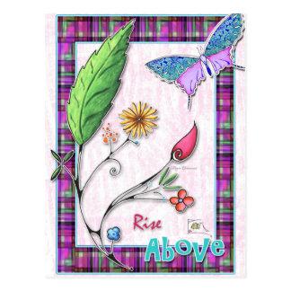 Rise Above Inspirational Postcard
