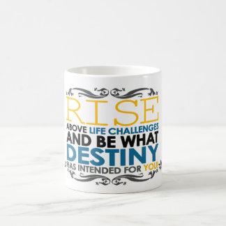 Rise Above Life Challenges Coffee Mug