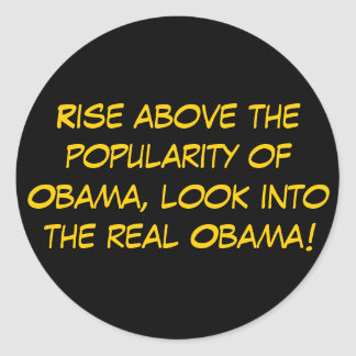 Rise above the popularity of Obama, look into t... Classic Round Sticker
