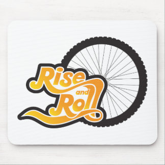 rise and roll cycle mouse pad