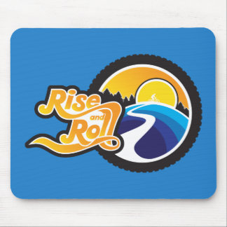 rise and roll cyclist mouse pad