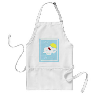 Rise and Shine Apron with Little Red Bird