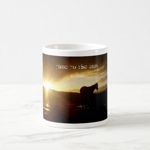 Rise and Shine Coffee Cup Coffee Mugs