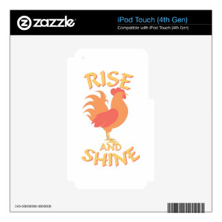 Rise And Shine iPod Touch 4G Decal
