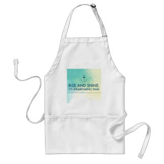 Rise and Shine It's Spearfishing Time Adult Apron