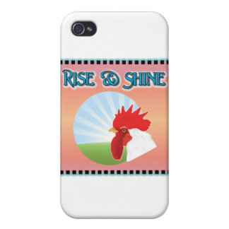 Rise and Shine Rooster Cover For iPhone 4