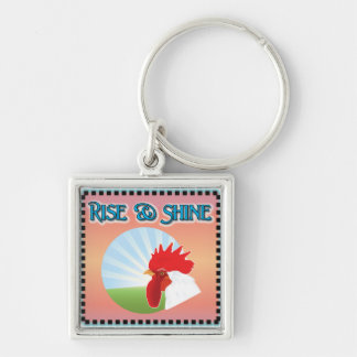 Rise and Shine Rooster Keychain