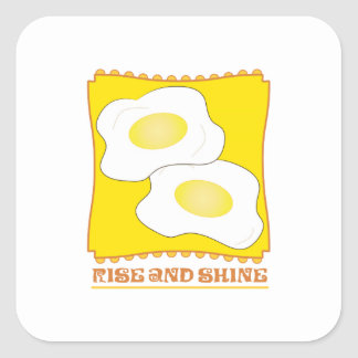 Rise And Shine Square Stickers