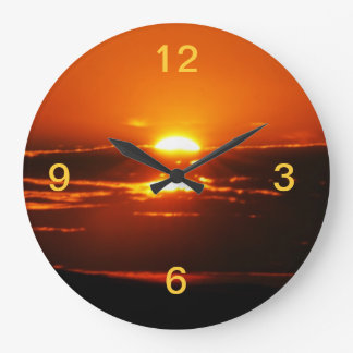 Rise And Shine Sunrise Large Clock