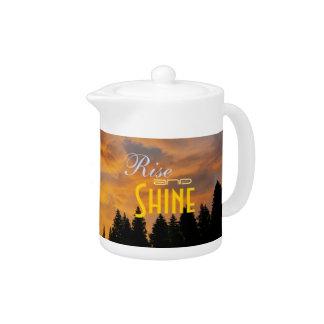 Rise and Shine Sunrise Photo Teapot