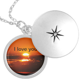 Rise And Shine Sunrise Silver Plated Necklace