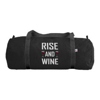 Rise And Wine Glasses Duffle Bag