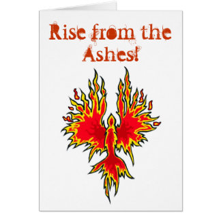 Rise From The Ashes - Phoenix Notecard