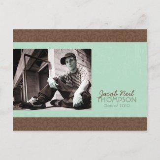 Rise Graduation Invitation postcard