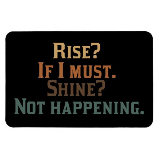 Rise? If I Must. Shine? Not Happening. Flexible Magnets