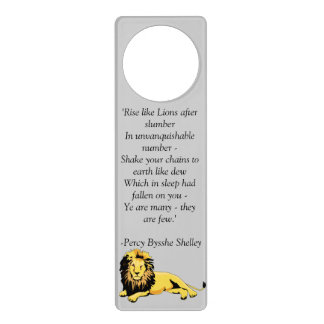 """""""Rise like Lions"""" Door Hanger"""