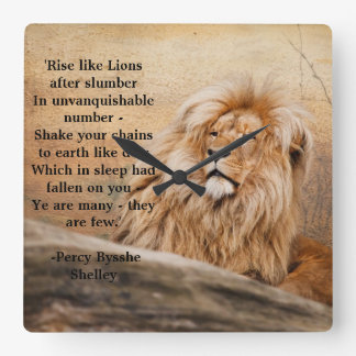 """Rise like Lions"" Wall Clock"