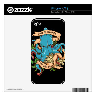 Rise of Kraken Monster Octopus iPhone 4S Decal