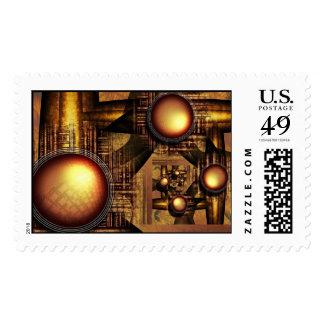 Rise of sun machine stamp