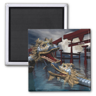 Rise of The Eastern Dragons 2 Inch Square Magnet