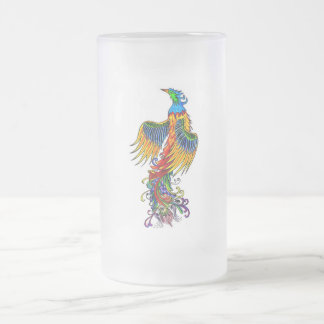 Rise of the Phoenix 16 Oz Frosted Glass Beer Mug