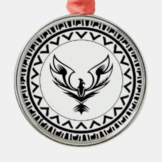 Rise of the Phoenix Metal Ornament