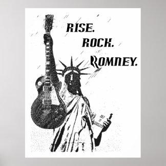 RISE. ROCK. ROMNEY - Romney Poster