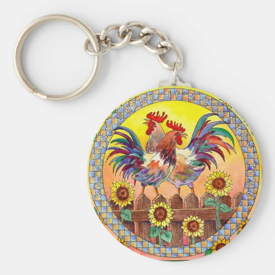 RISE & SHINE by SHARON SHARPE Keychain