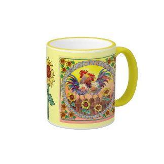 RISE & SHINE by SHARON SHARPE Ringer Coffee Mug