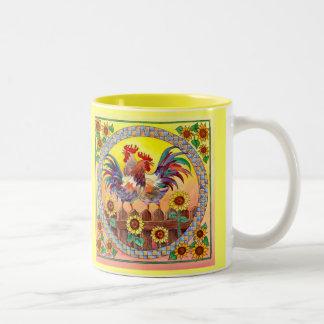 RISE & SHINE by SHARON SHARPE Two-Tone Coffee Mug