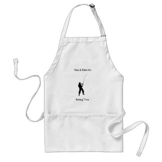 """""""Rise & shine it's fishing time"""" design gifts Adult Apron"""
