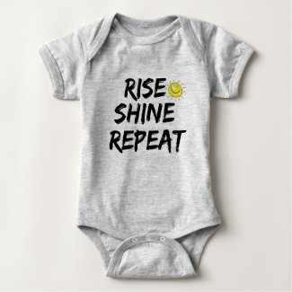 Rise, Shine, Repeat Quote with Sunshine Baby Bodysuit