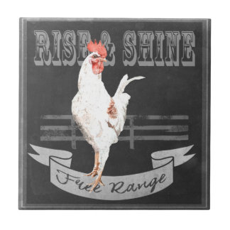 Rise & Shine Rooster Tile
