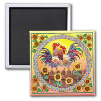 RISE & SHINE ROOSTERS by SHARON SHARPE Magnet