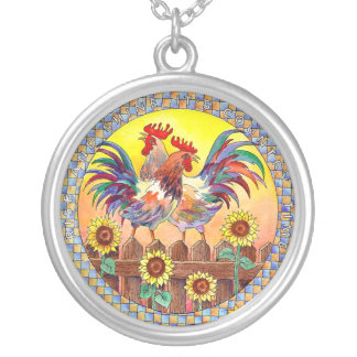 RISE & SHINE ROOSTERS by SHARON SHARPE Necklace