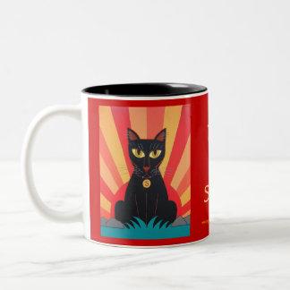 Rise & Shine Sunrise Jungle Cat Mug