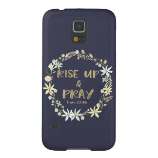 Rise Up and Pray Bible Quote Case For Galaxy S5