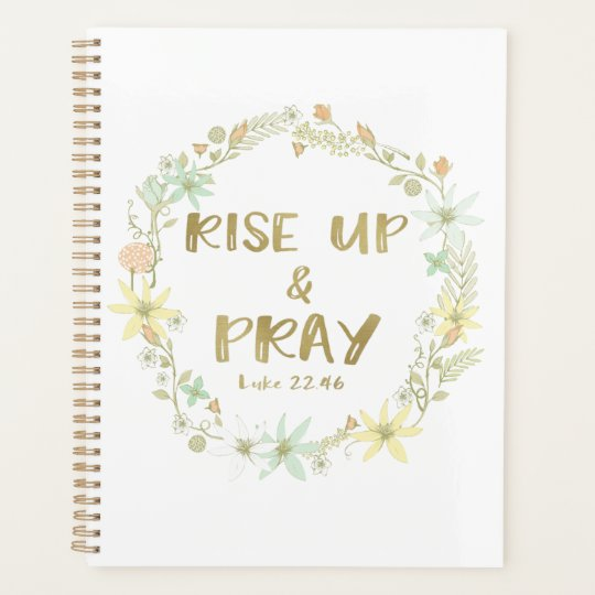 rise up and pray bible verse quote planner com