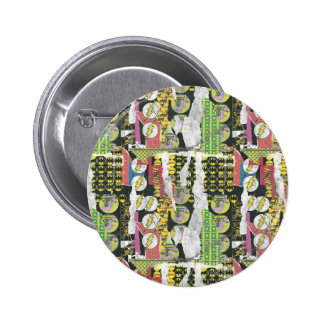 Rise Up Collage Pattern Button