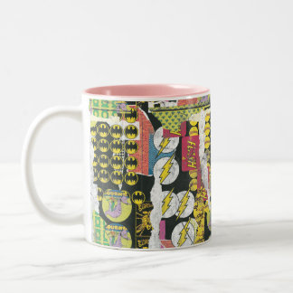 Rise Up Collage Pattern Two-Tone Coffee Mug