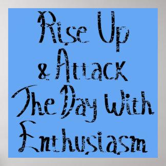 Rise Up Motivation Poster