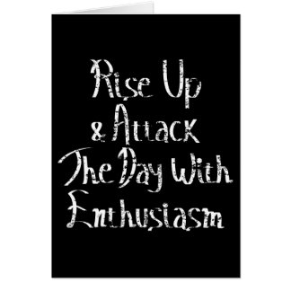 Rise Up Motivation White Card