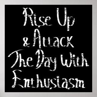 Rise Up Motivation White Poster