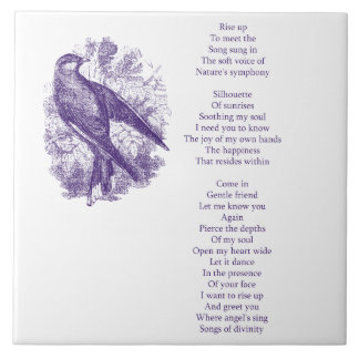 Rise Up Poem Ceramic Tile
